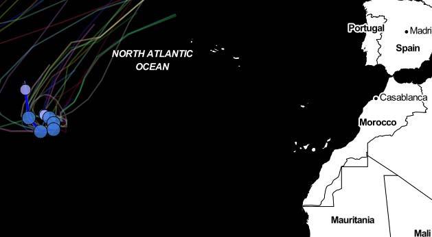 Huracán lee se forma en el centro del atlántico