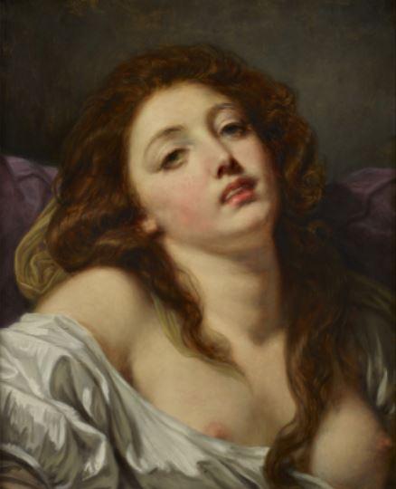 La Volupté par Jean-Baptiste Greuze,  1765, Paris, collection particulière © Thomas Hennocque
