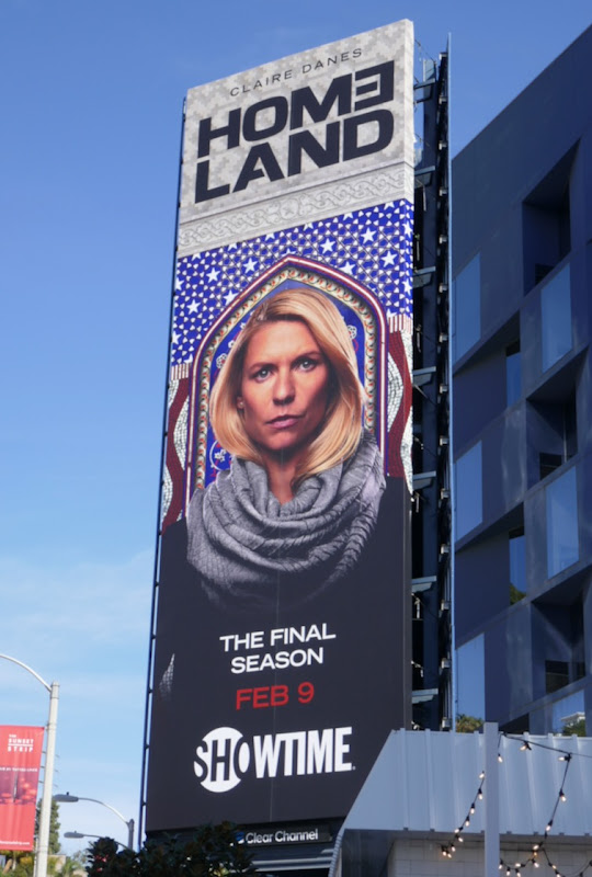 Claire Danes Homeland final season billboard