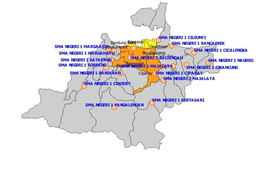 Daftar SMA Negeri Kabupaten Bandung Berdasarkan Sistem