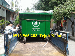 Thùng rác bệnh viện 660 lít 4 bánh xe
