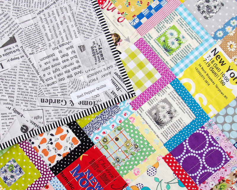 A Color Splash Quilt - backing and binding fabric | Red Pepper Quilts 2016