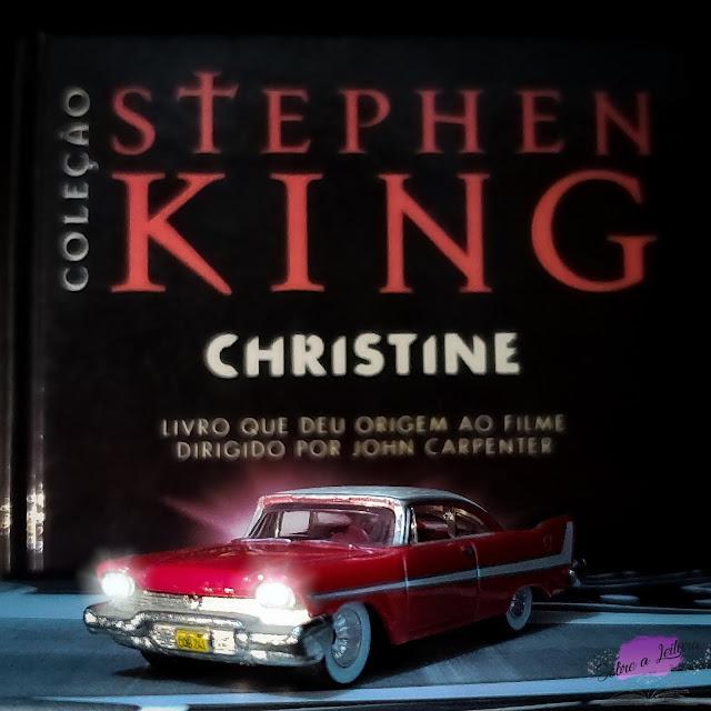 livro Christine o carro assassino coleção stephen king com minuatura hot wheels
