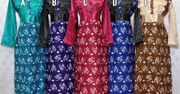 Model Baju Gamis Batik Kombinasi Modern 2015