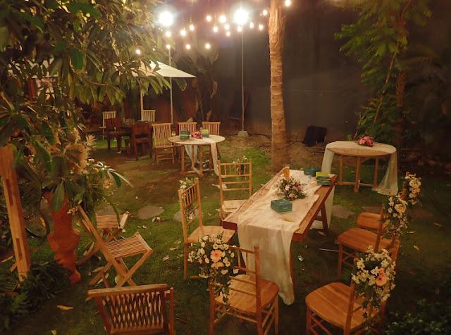 meja makan keluarga resepsi pernikahan