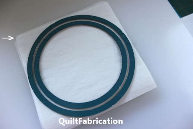 layers of fusible web for die cutting