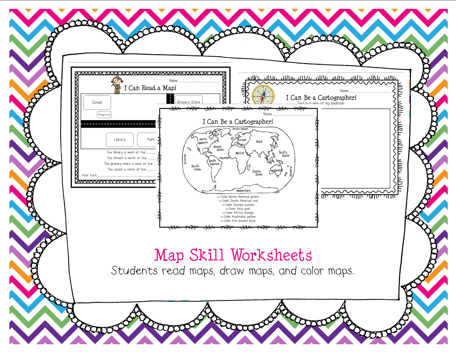 Cut And Paste Continents Worksheet