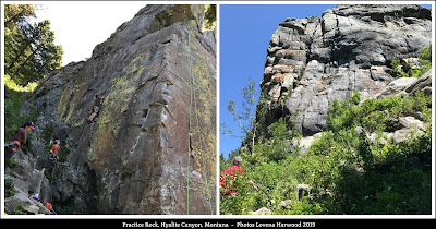 practice rock, hyalite canyon, gallatin national forest, montana, rock climbing