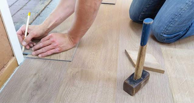 Pemasangan lantai parket dan vinyl