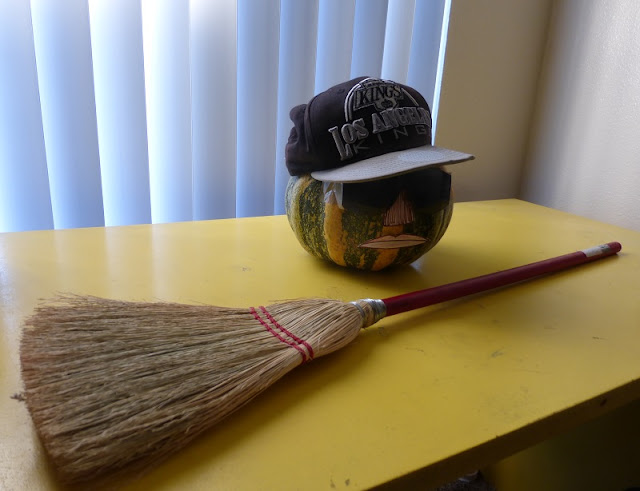 Eazy-E pumpkin and broom