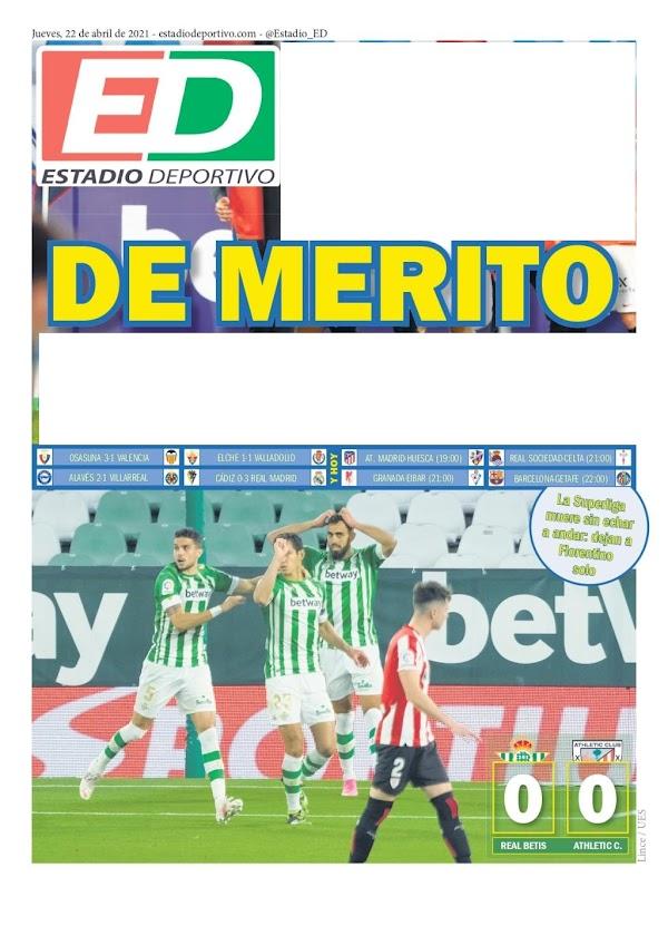 "Betis, Estadio Deportivo: ""De mérito"""