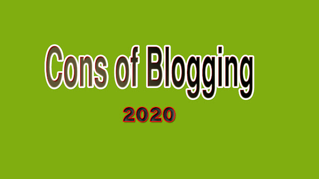 Cons of blogging in 2020