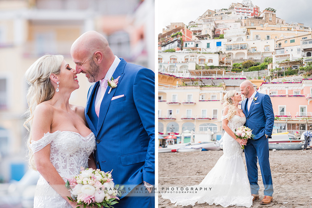 Positano wedding beach portrait