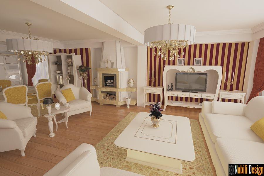Design interior living casa de lux Bucuresti - Arhitect amenajari interioare Bucuresti.