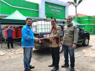 Turut  Perangi COVID-19, Cirebon Power Bantu  Ribuan Liter Disinfektan Ke Pemerintah Daerah