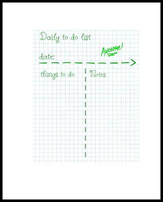 Menu planner US size (8.5x11) pdf file