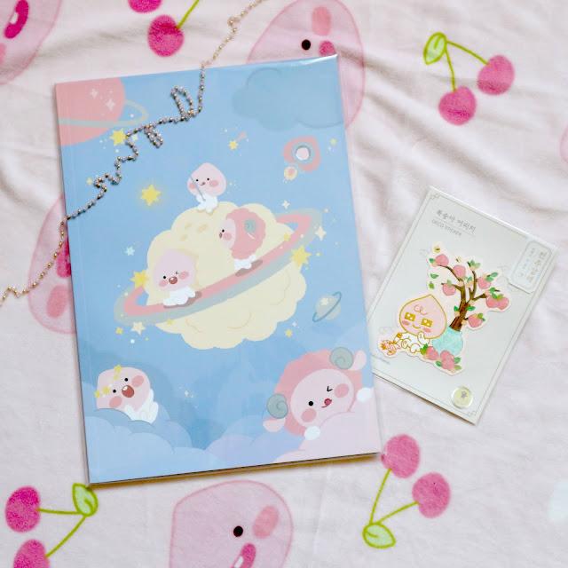 Le cahier Lovely APeach de la box Gomirang.