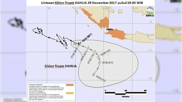 Waspada! Habis Cemapak Menyusul Siklon Tropis Dahlia yang Bisa Sebabkan Hujan Lebat Disertai Angin Kencang di Jakarta, Jabar, dan Sumatera