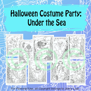 Halloween costume party under the sea mermaids