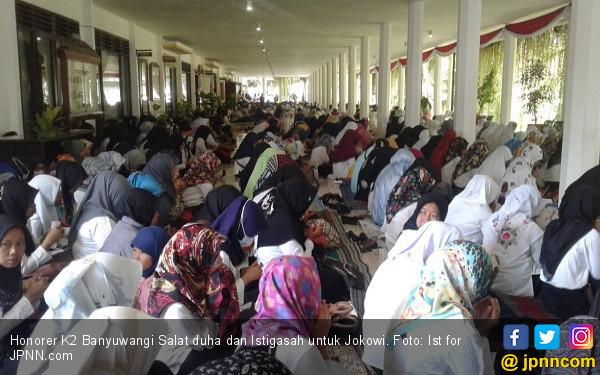 Ribuan Honorer K2 Gelar Istigasah, Bermunajat kepada Allah agar Jokowi Terketuk Hatinya