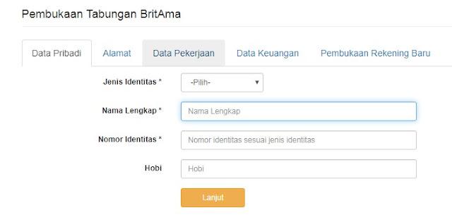 cara daftar BRI online
