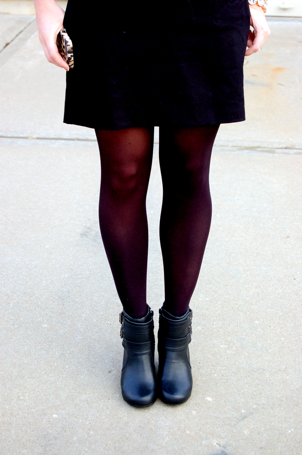 what to wear with black booties