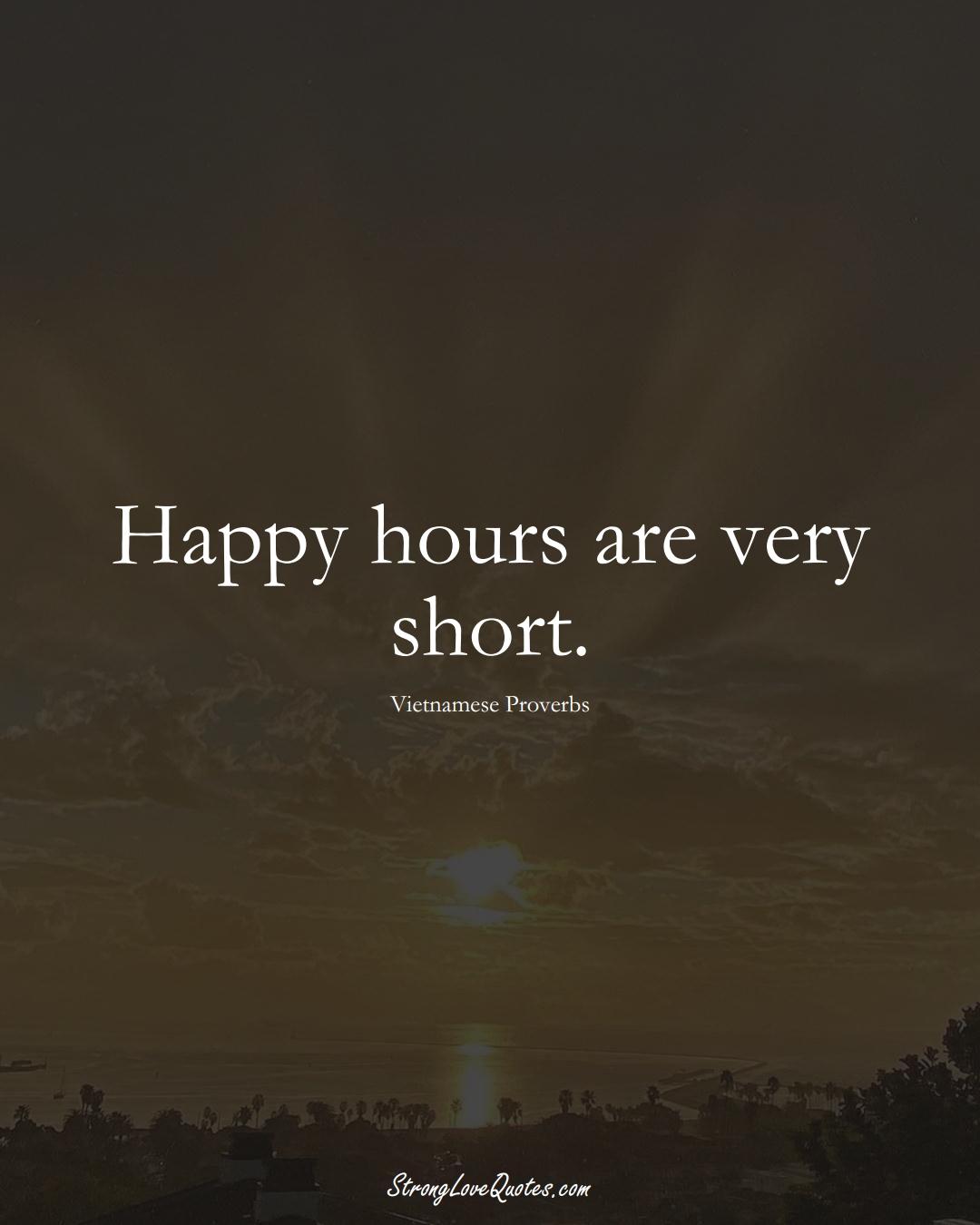 Happy hours are very short. (Vietnamese Sayings);  #AsianSayings