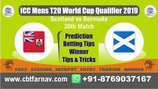 WC T20 Qualifier BER vs SCO 30th Today Match Prediction T20 World Cup Qualifier