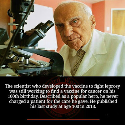 Jacinto Convit García the scientist who developed the vaccine to fight Leprosy