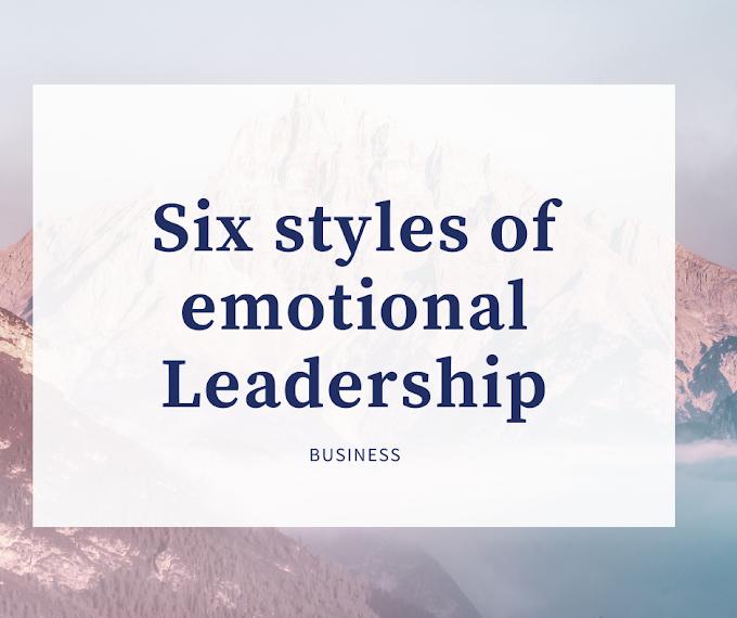 Six styles of emotional leadership