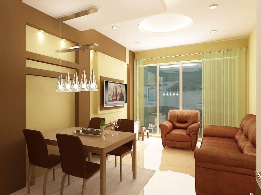 Beautiful 3d interior designs kerala home design and for Interior design ideas for small house