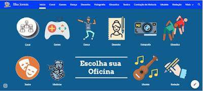 Quatorze oficinas on line, aplicativo próprio e atendimento médico mobilizam o Ilha Jovem