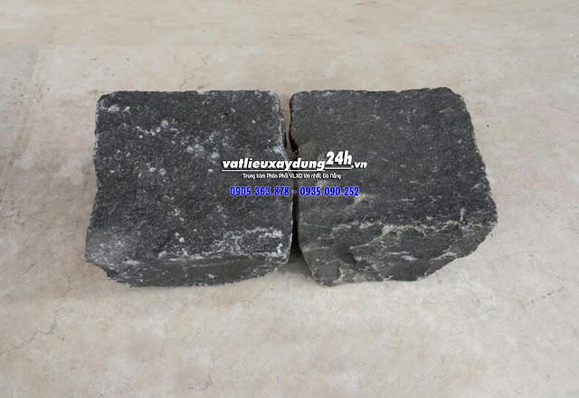 Đá bazan cubic đen 10x10x8 cm