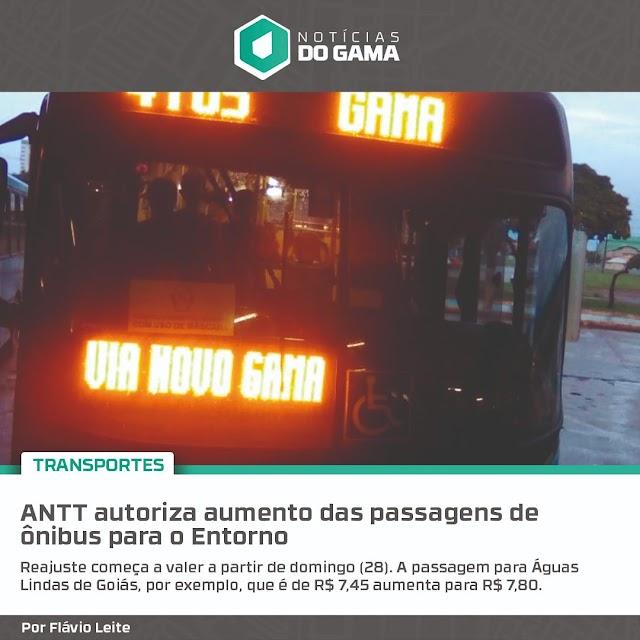 A ANTT autoriza aumento das passagens de ônibus para o entorno do DF