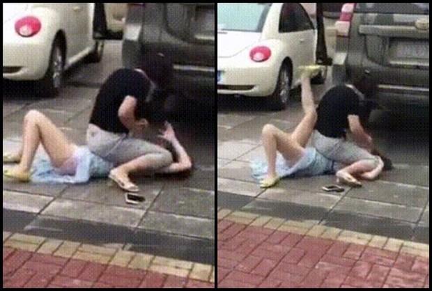 Bị đánh ghen nhừ tử giữa đường, bồ nhí mặt dày hỏi nhân tình: 'Anh chọn vợ hay chọn em?'