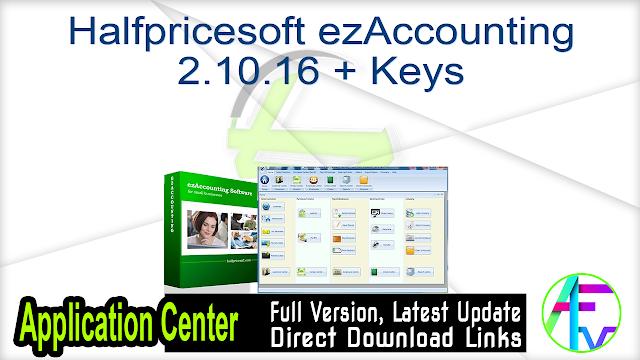 Halfpricesoft ezAccounting 2.10.16 + Keys