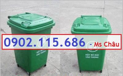 www.123nhanh.com: Thùng rác nhựa 60l, thùng rác 60l đạp chân,