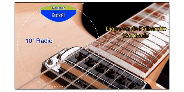Radio de Diapasón y Maderas de las Guitarras Rickenbacker