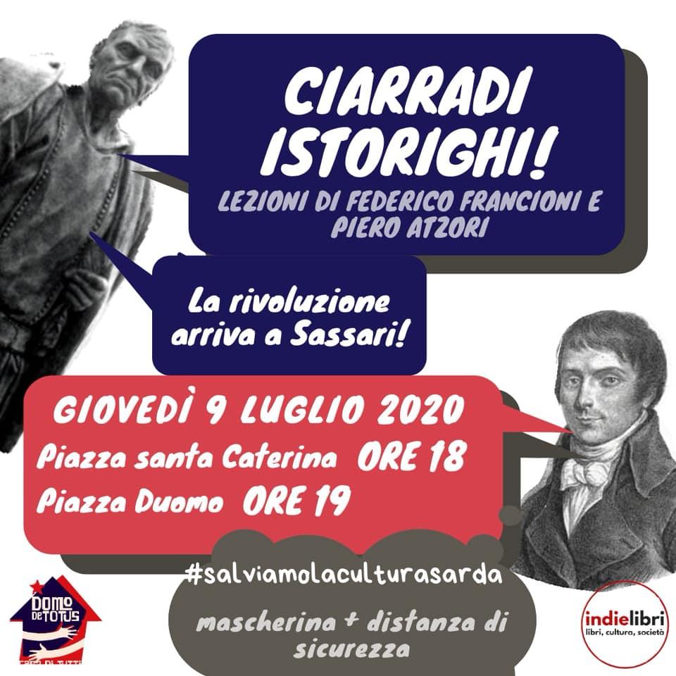 La Rivoluzione arriva a Sassari : Ciarradi istorighi