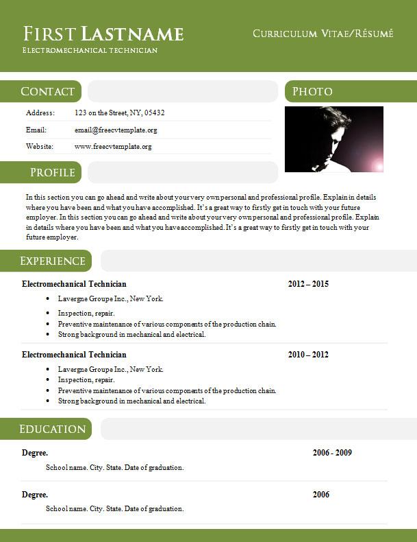 powerful resume templates 2017