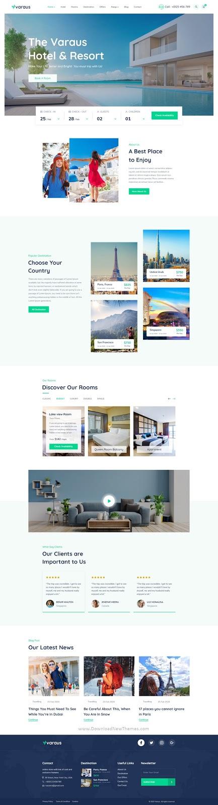 Hotel Booking Website Template