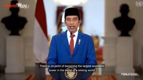 Pidato Virtual: Jokowi Prihatin, PBB Belum Bisa Wujudkan Perdamaian Dunia