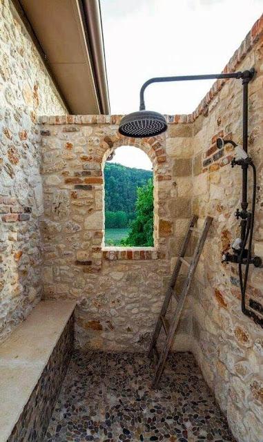 แบบห้องน้ำธรรมชาติตกตแต่งด้วยหิน
