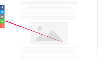 whatsapp share button sidebar widget for blogs