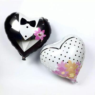 Balon Foil Hati Couple
