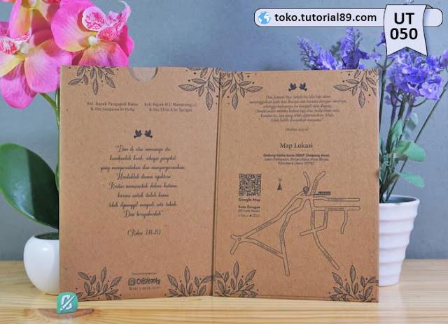 Undangan pernikahan UT050 - Single Hard Cover Amplop +free kartu ucapan terima kasih