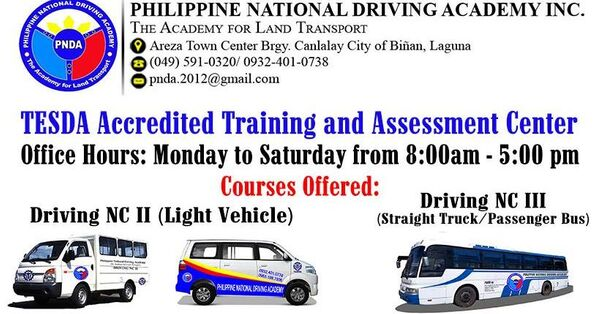 Driving NC II & III | FREE Training and Assessment