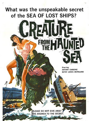 Póster película Creature from the Haunted Sea