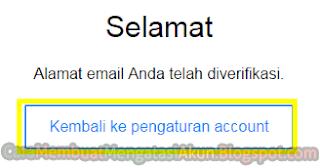 menambahkan email alternatif yahoo