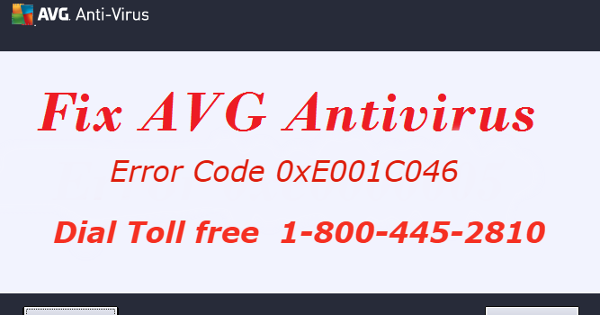 Methods to Fix Error Code 0xE001C046-AVG Antivirus Support